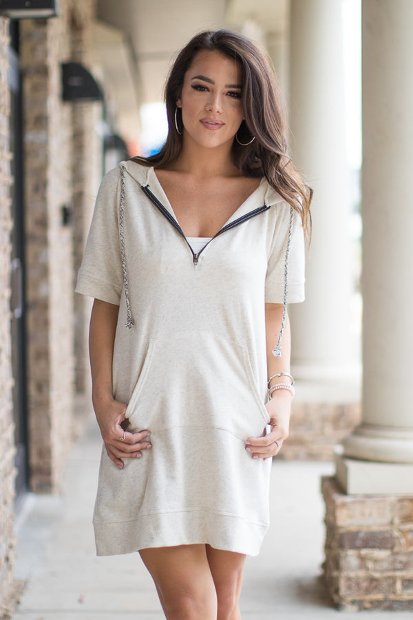 Hooded Sweatshirt Dress - Madison + Mallory