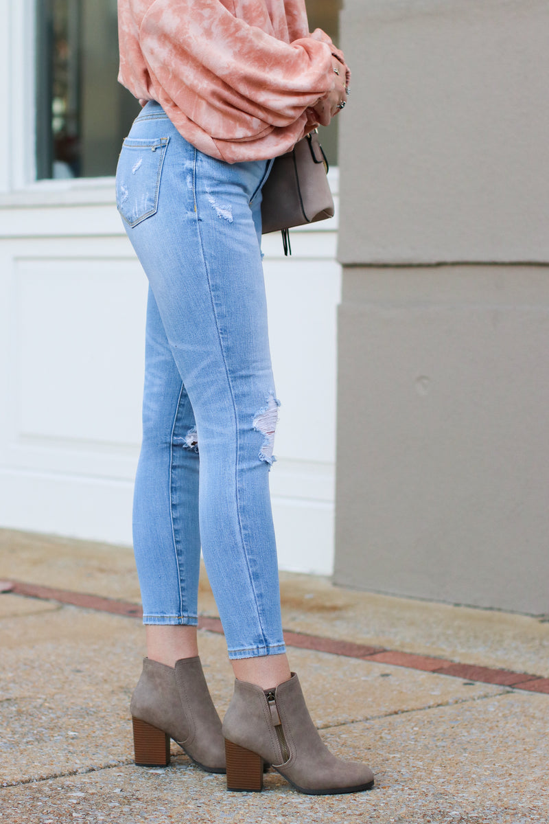 Rana Distressed Skinny Jeans - FINAL SALE - Madison and Mallory