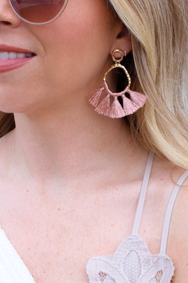 OS / Pink In the Details Tassel Earrings + MORE COLORS - Madison + Mallory