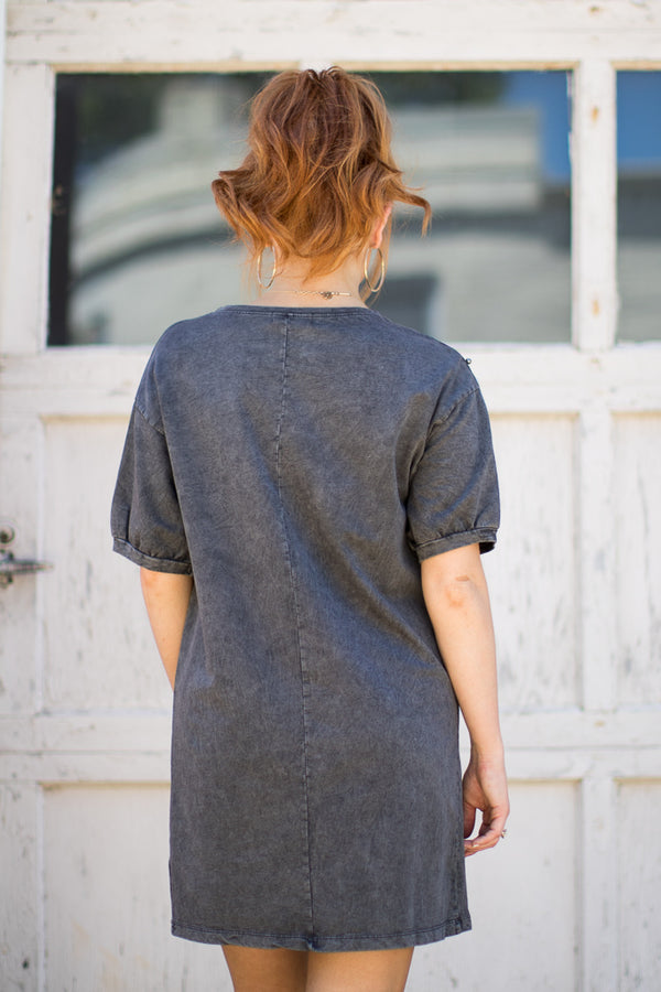 Pearl Detail T-Shirt Dress - Madison + Mallory