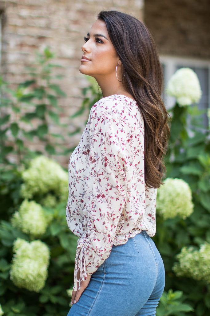 Ariana Floral Top - Madison + Mallory
