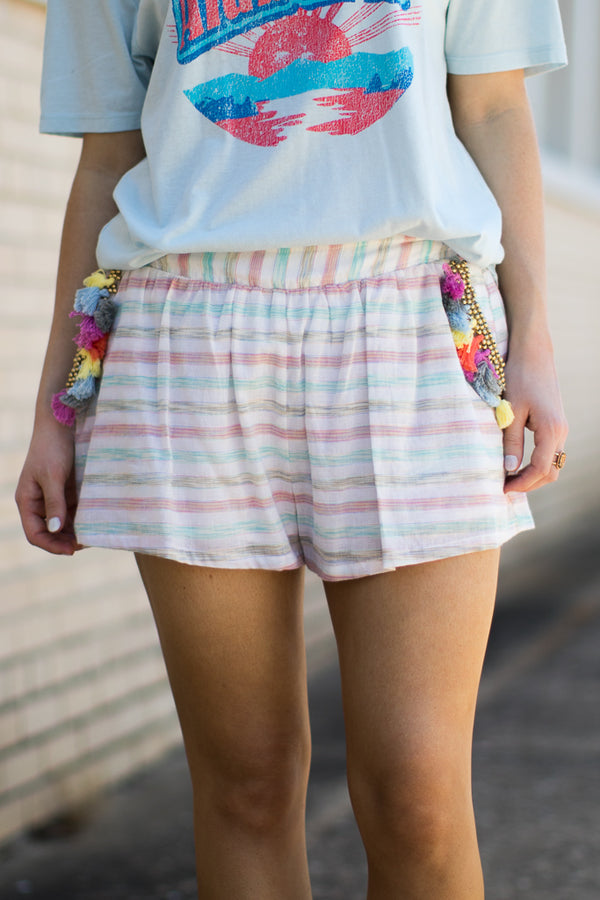 S / Multi La Vida Loca Tassel Shorts - Madison + Mallory