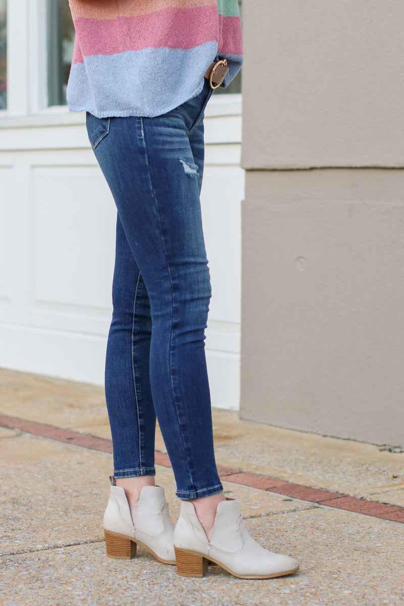 Mollie Distressed Skinny Jeans - FINAL SALE - Madison and Mallory