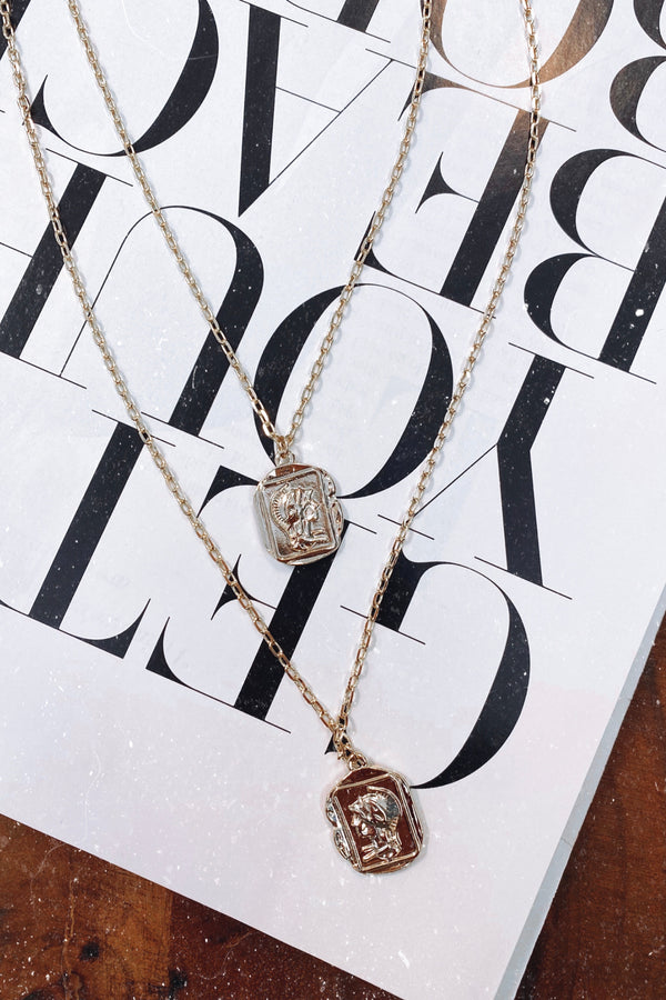 Gondolier Layered Antique Coin Necklace - Madison and Mallory