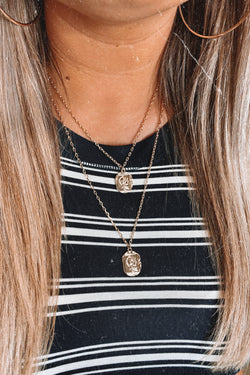 Gold Gondolier Layered Antique Coin Necklace - Madison and Mallory