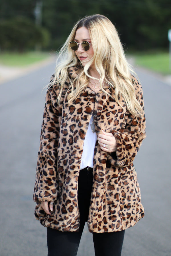 S / Leopard All is Wild Leopard Jacket - Madison + Mallory