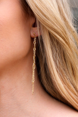 Gold Wilinda Multi Chain Drop Earrings - Madison and Mallory