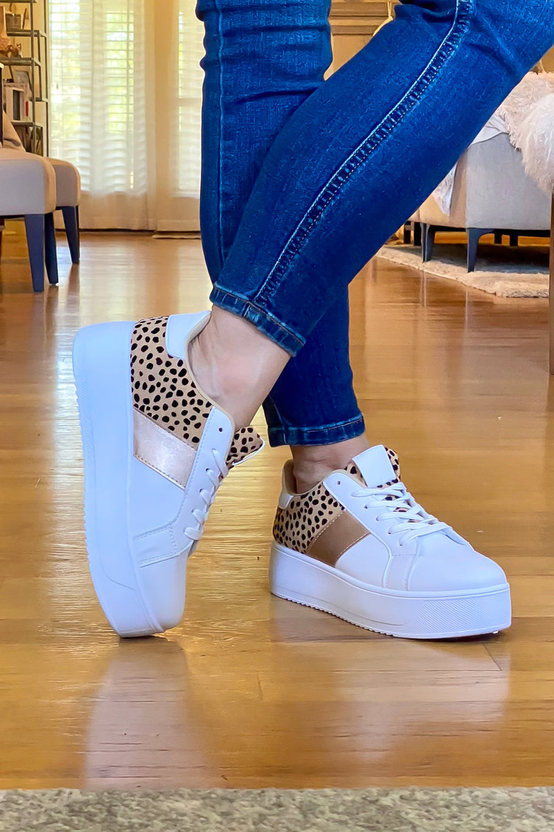 Riza Animal Print Platform Sneakers - Madison and Mallory
