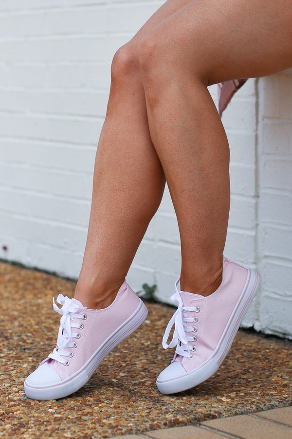 Pink / 6 Where You Go Low Top Sneakers - Pink - Madison and Mallory