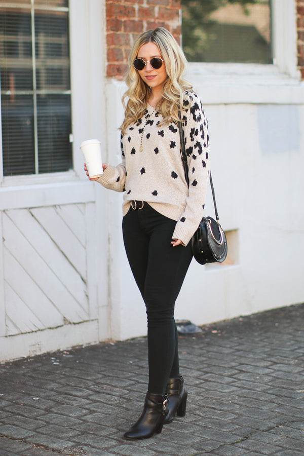 Meow and Then Leopard Sweater - Madison + Mallory