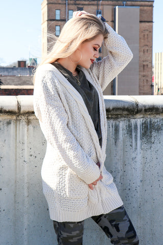 Cable Knit Cardigan - Madison + Mallory