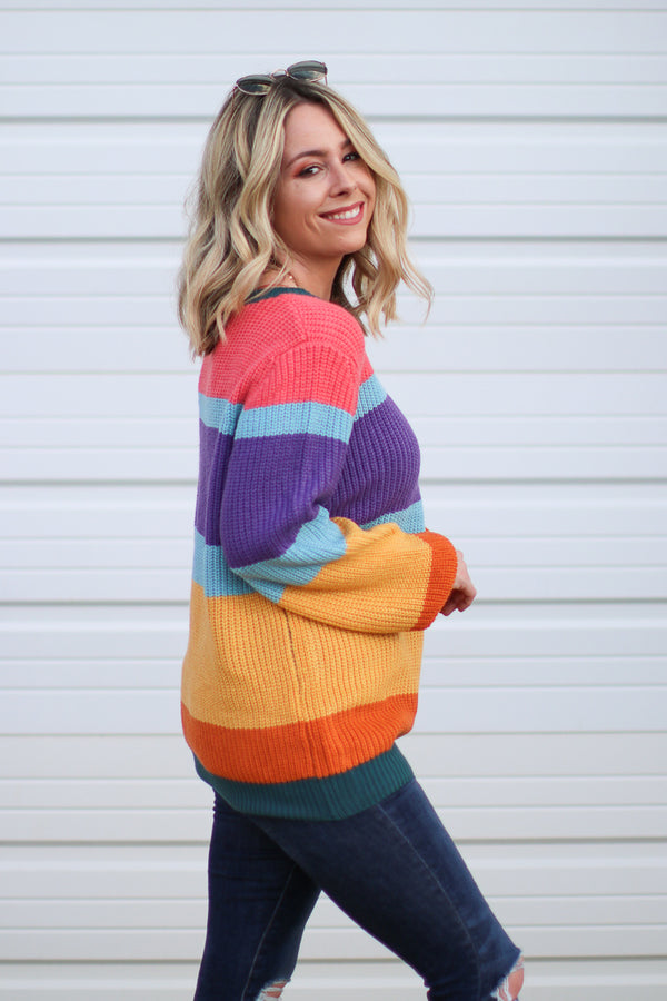 Chasing Rainbows Sweater - Madison + Mallory