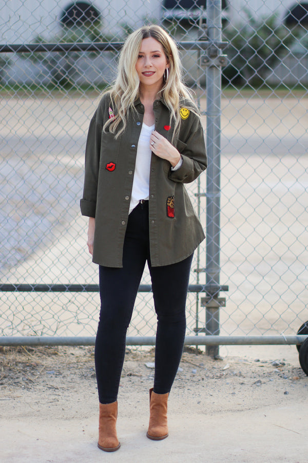 Patched Up Jacket - Madison + Mallory