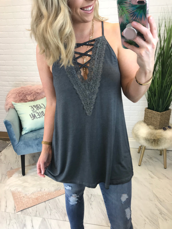Ash / S Bouquet Strappy Cami - Madison + Mallory