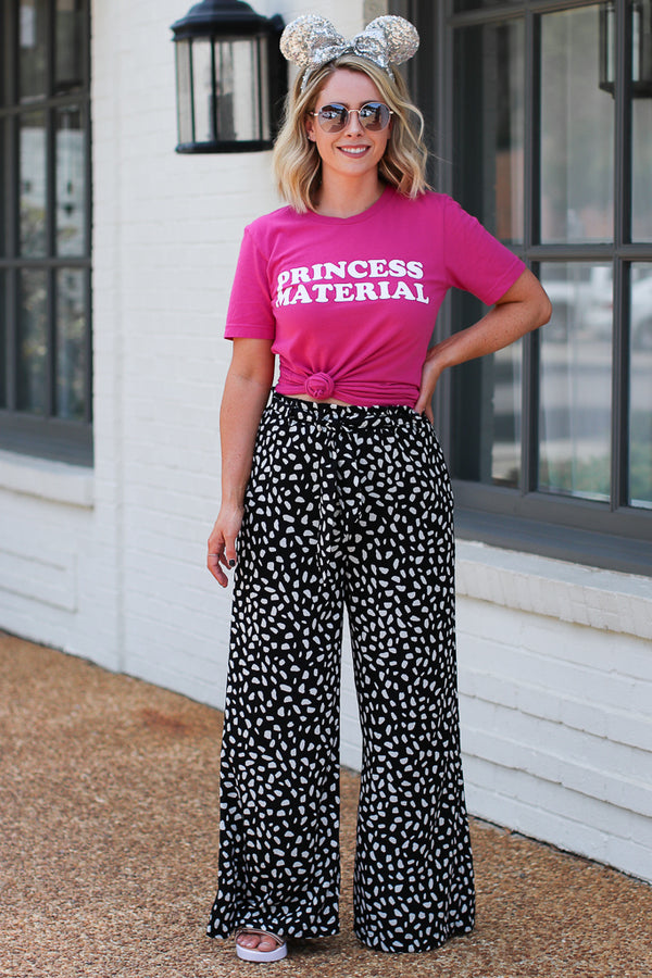 Top of the World Wide Leg Dot Pants - Madison + Mallory
