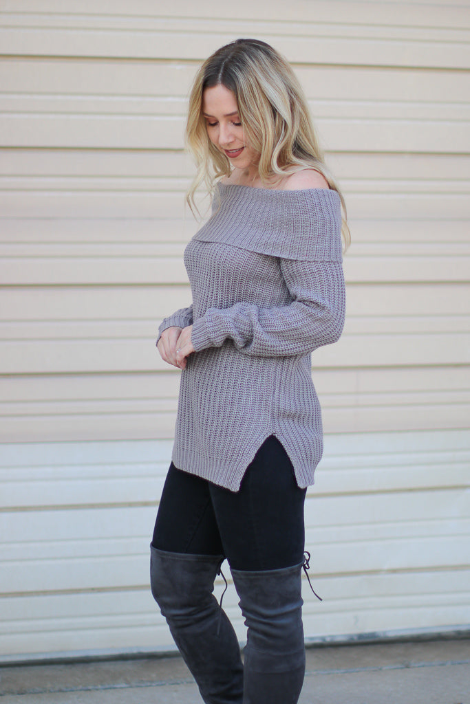 Brandy Off the Shoulder Sweater - Madison + Mallory