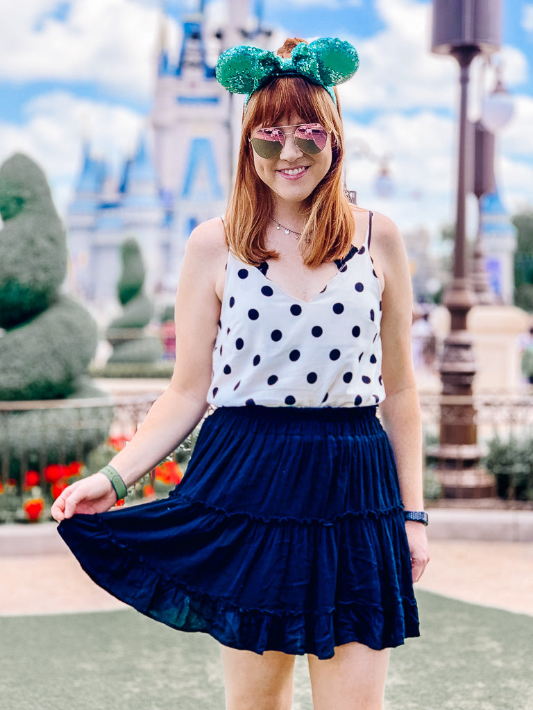 S / Black Brought the Dots Polka Dot Scalloped Top - Madison and Mallory