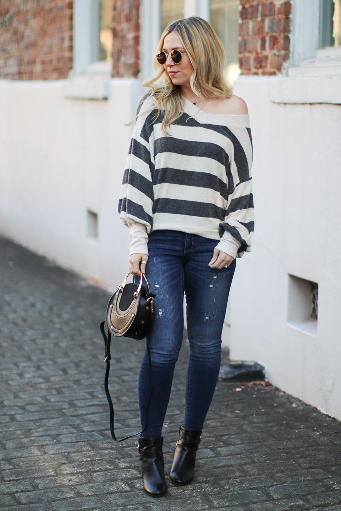 Catrice Striped Sweater - Madison + Mallory