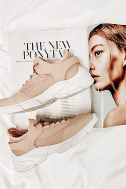 Nude / 6 Mile a Minute Mesh Sneakers - Madison and Mallory