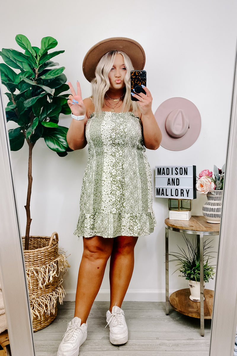 Gentle Soul Smocked Floral Dress - FINAL SALE - Madison and Mallory