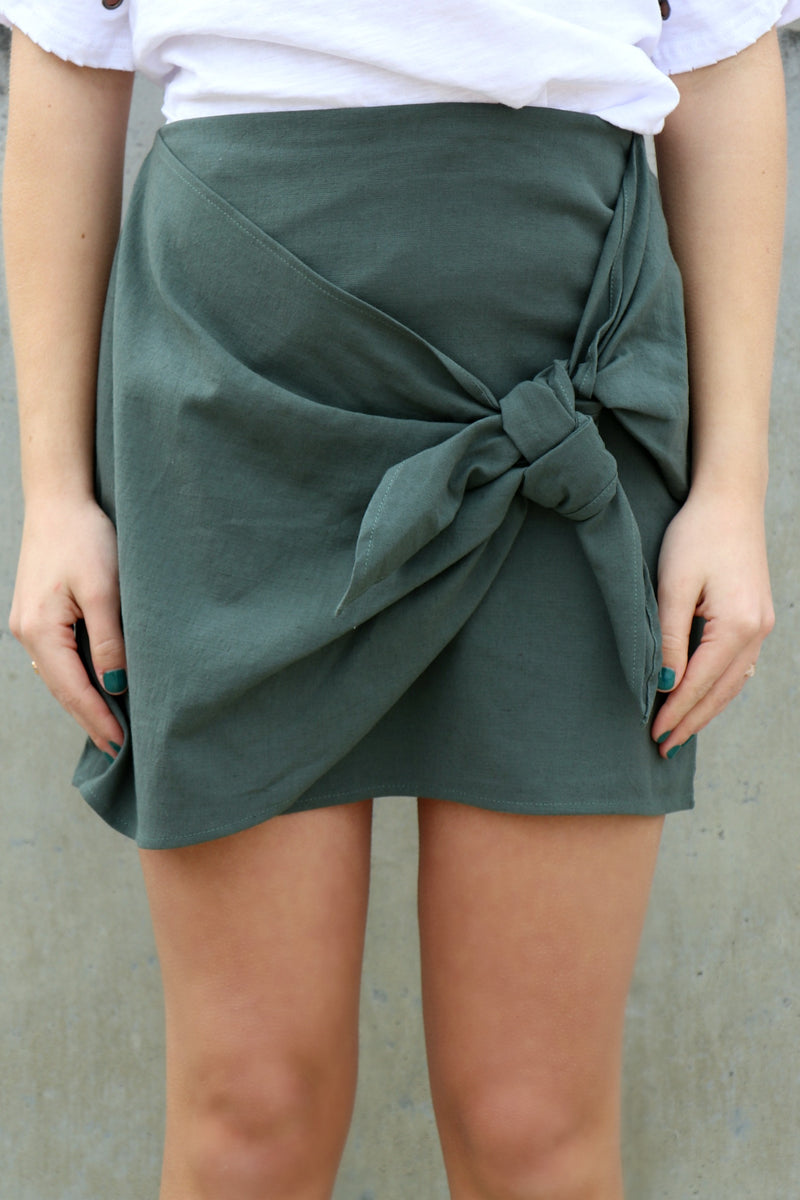 Tie Front Skirt - FINAL SALE - Madison + Mallory