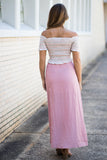 Button Detail Maxi Skirt - Madison + Mallory