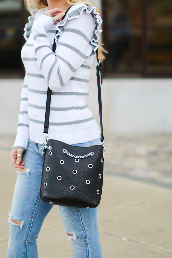 Vestavia Grommet Bucket Bag - Madison + Mallory