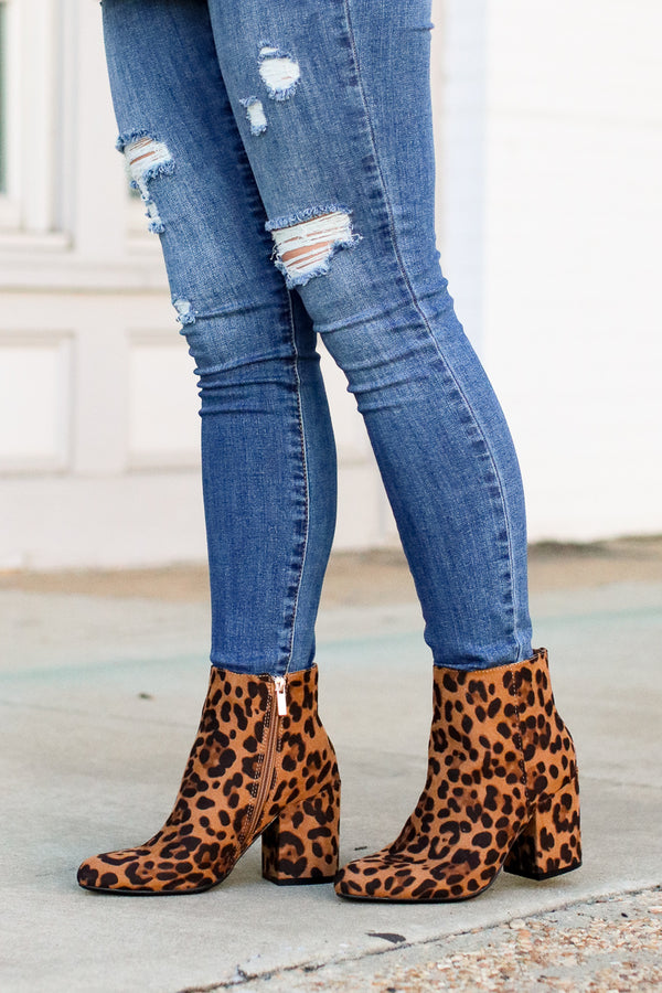 Love is a Wild Thing Leopard Booties - Madison + Mallory