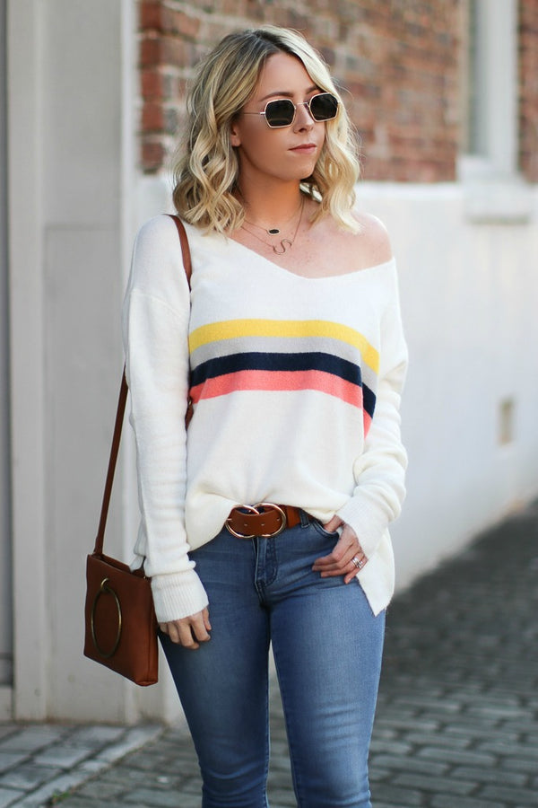 Sawyer Multi-Colored Striped Sweater