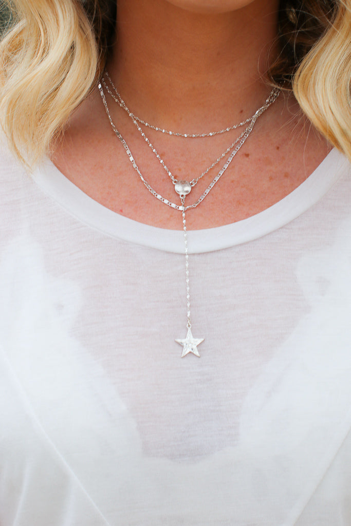 Silver Day to Day Layered Star Necklace - Madison + Mallory