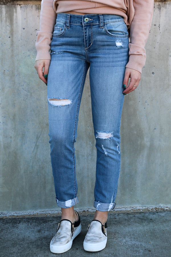 1 / Light Denim Peyton Boyfriend Jeans - Madison + Mallory