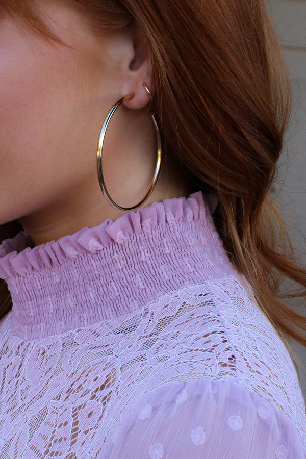 Silver After Midnight Hoop Earrings - Madison + Mallory