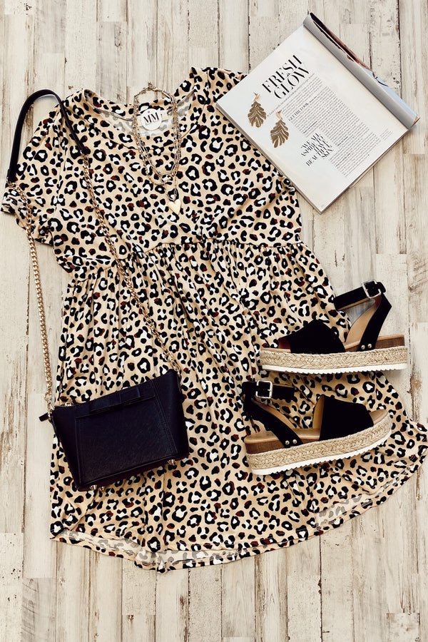 What a Catch Animal Print Dress - Madison and Mallory