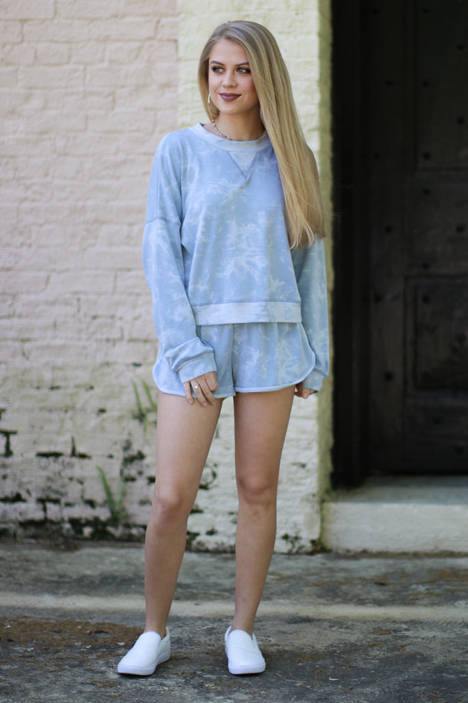 Tie Dye Print Shorts - Madison + Mallory