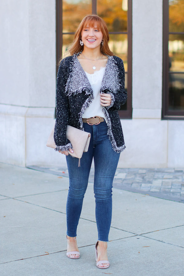 Class Act Textured Knit Cardigan - FINAL SALE - Madison and Mallory
