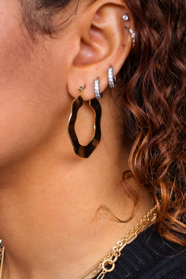 Gold Standard Fanfare Flat Hoop Earrings - Madison and Mallory