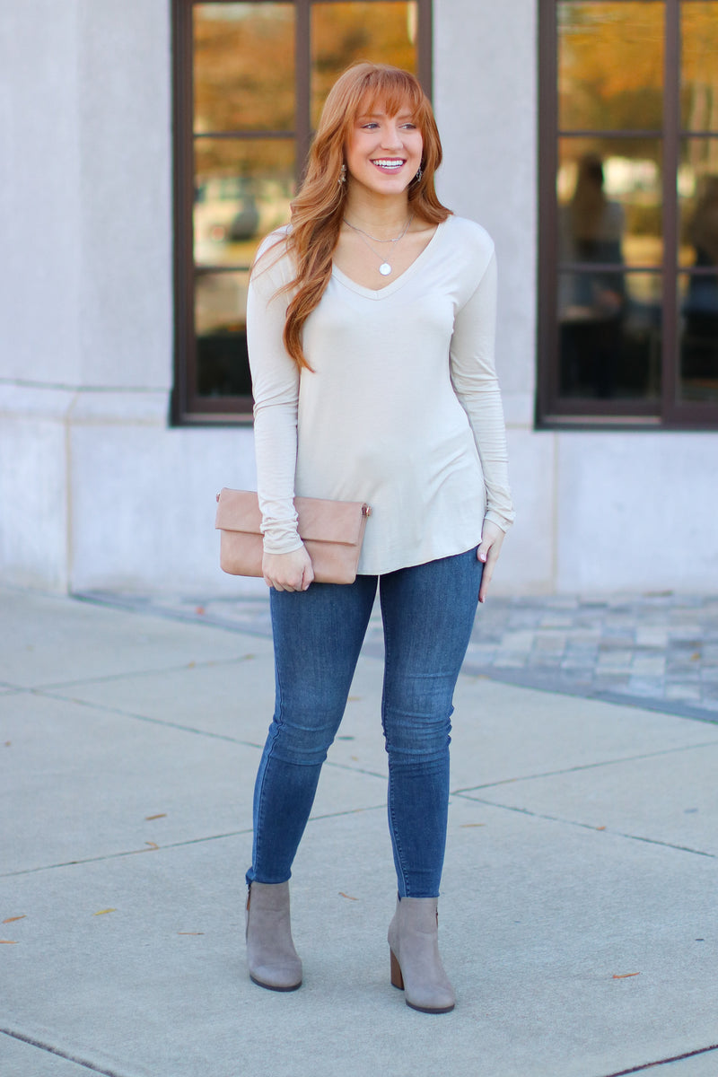 Dakota Long Sleeve Top + MORE COLORS - Madison and Mallory