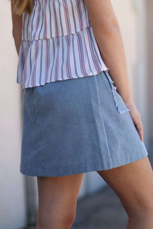 Fraying Fine Skirt - Madison + Mallory