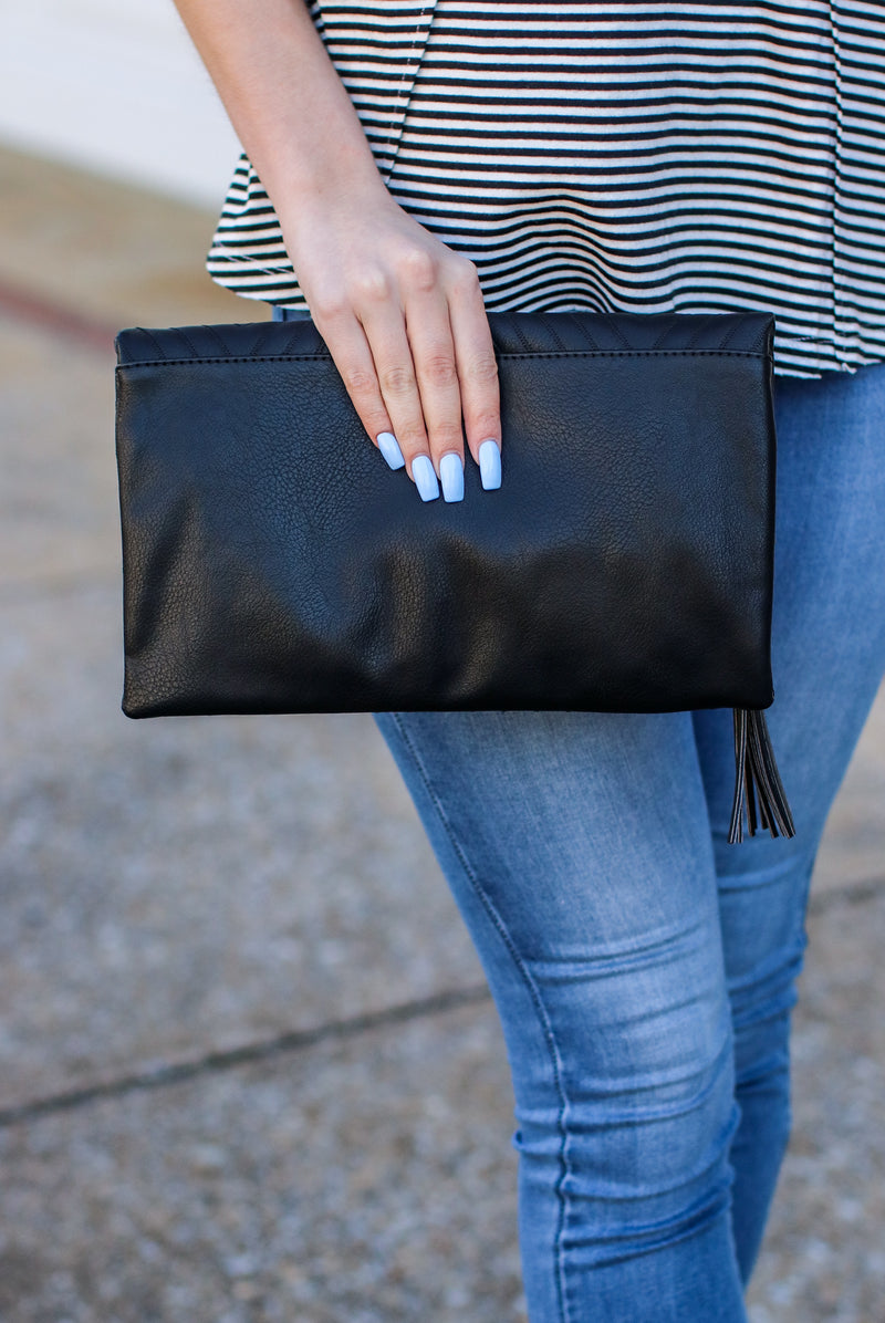 Fashion Forward Quilted Crossbody Clutch - Madison and Mallory