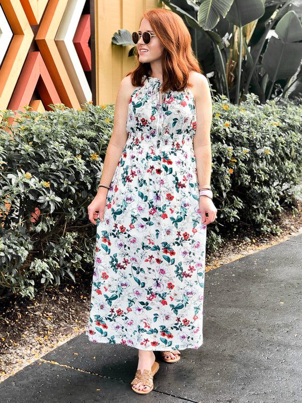 S / White Closer to You Floral Maxi Dress - Madison + Mallory