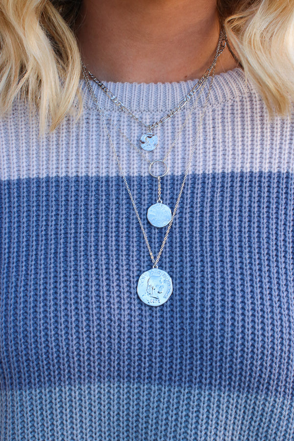 OS / Silver Luxe Dreams Layered Coin Necklace + MORE COLORS - Madison + Mallory