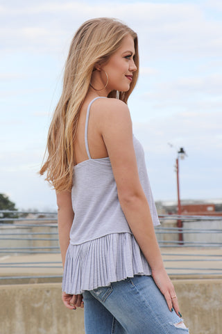 Pleated Detail Tank Top