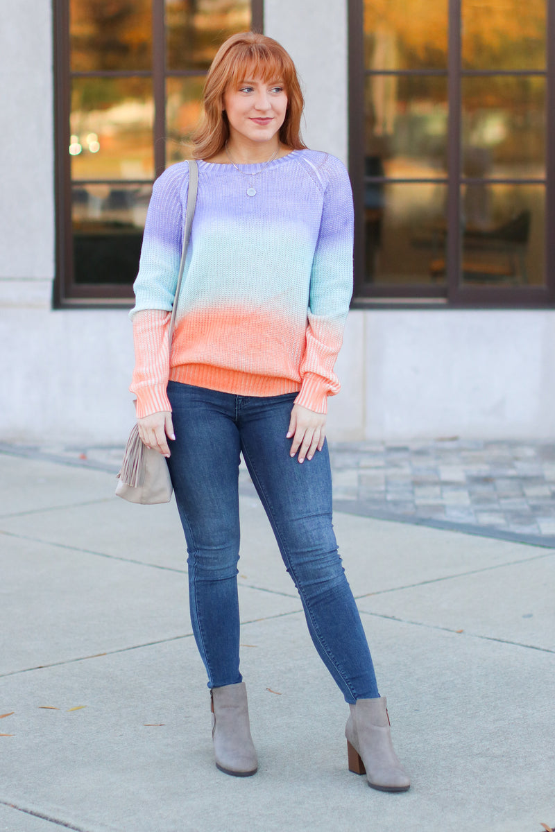 Repeat After Me Multi Color Sweater - Lavender - Madison + Mallory