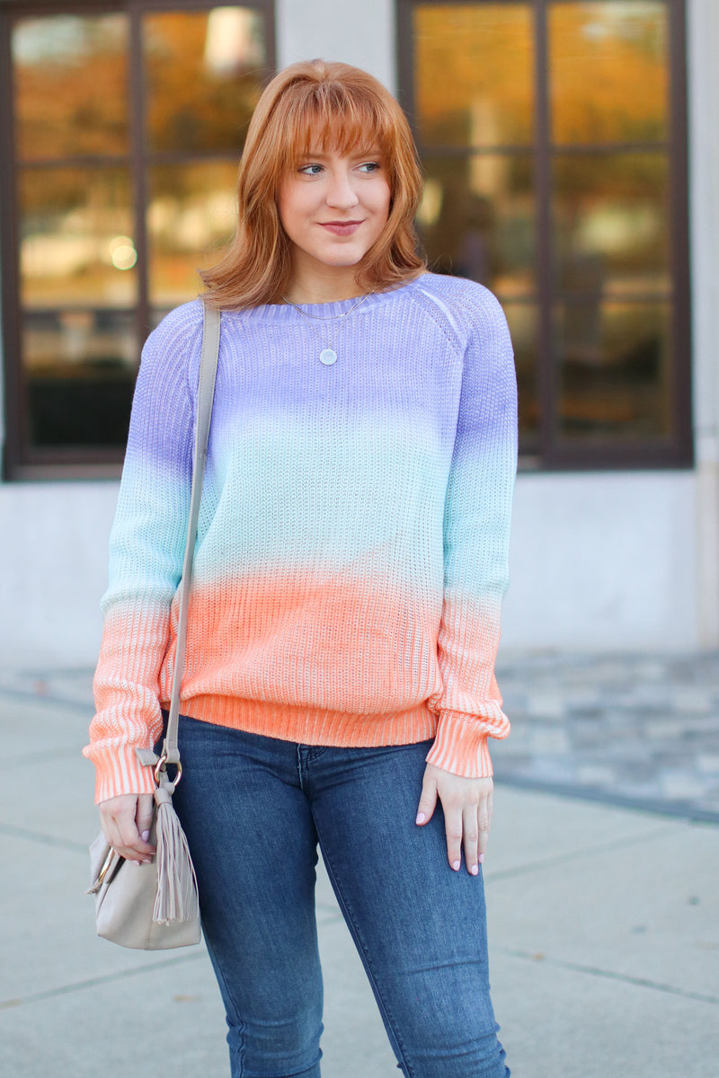 Lavender / S Repeat After Me Multi Color Sweater - Lavender - Madison + Mallory