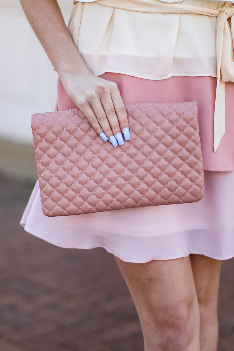 Party Crasher Quilted Crossbody Clutch - Madison and Mallory