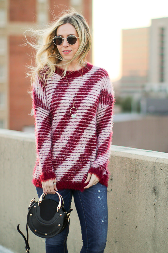 Toria Striped Sweater - Madison + Mallory