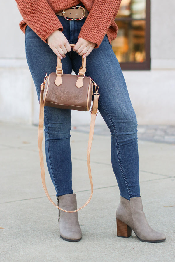 Dev Faux Leather Crossbody Bag - Madison + Mallory