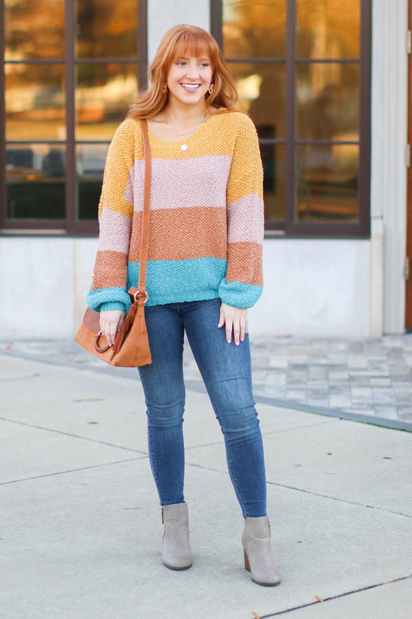 Bardonia Multi Color Block Sweater- FINAL SALE - Madison and Mallory