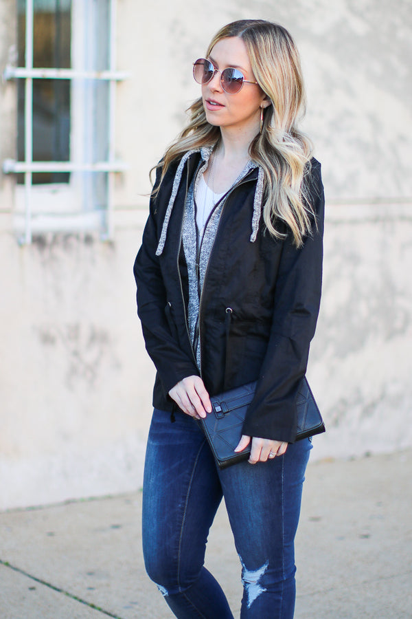 Black / S Make Plans Layered Utility Jacket - Black - Madison + Mallory