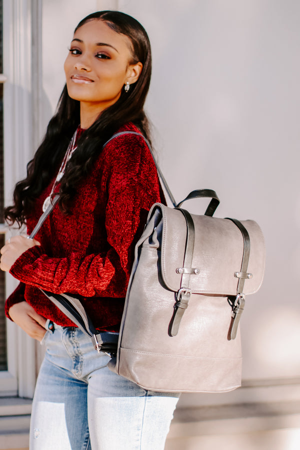 Trend Ambassador Faux Leather Backpack - Madison and Mallory